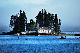 Boothbay Harbor island